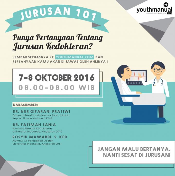 Jurusan 101: Tanya Apapun Tentang Jurusan Kedokteran di Youthmanual