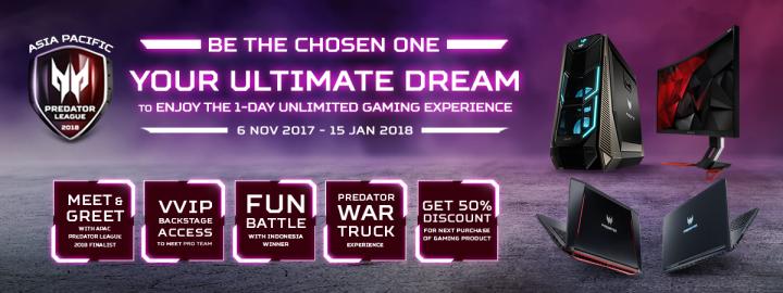 Beli Produk Gaming Bisa Dapet Kesempatan Untuk Merasakan 1-Day Unlimited Gaming Experience? Cuma di Asia Pacific Predator League!
