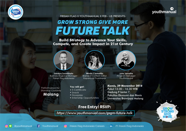 Minggu Depan, Grow Strong Give More Future Talk 2018 Hadir di Kota Malang!