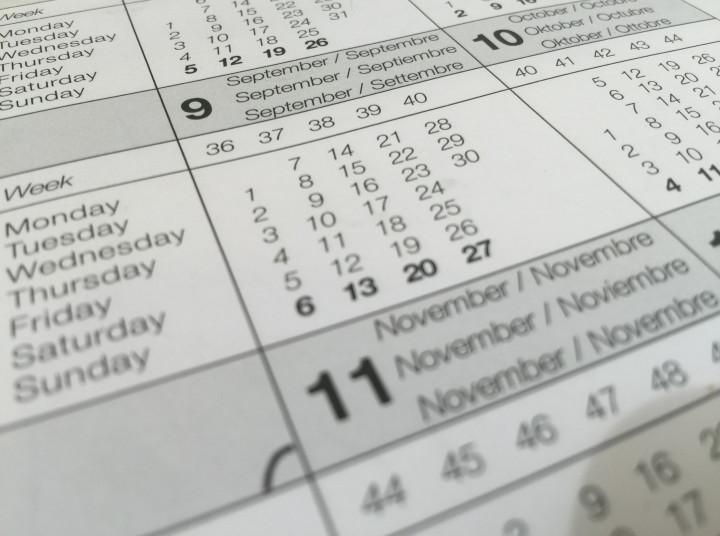 Agenda November 2019: Catat Tanggal dan Kegiatan Penting