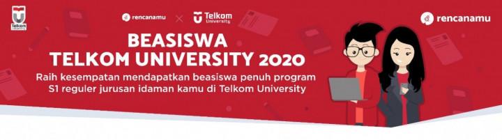 Kuliah S1 Gratis dengan Beasiswa dari Telkom University x Rencanamu, Begini Caranya!
