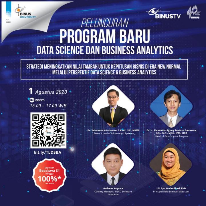 Data Science dan Business Analytics, Program Baru dengan Prospek Menjanjikan di BINUS UNIVERSITY